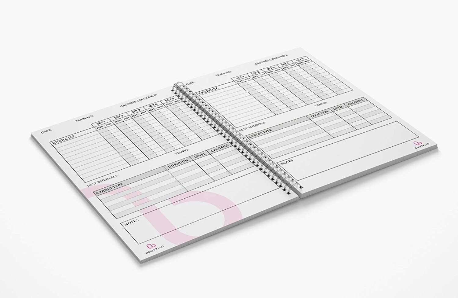 Exercise/Workout Log Book & Calorie Tracker