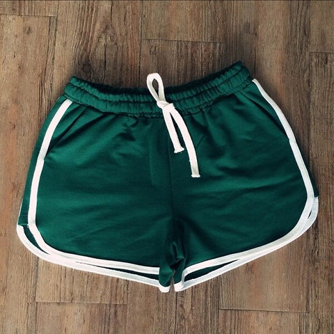 drawstring Shorts with contrasting ribbed trims