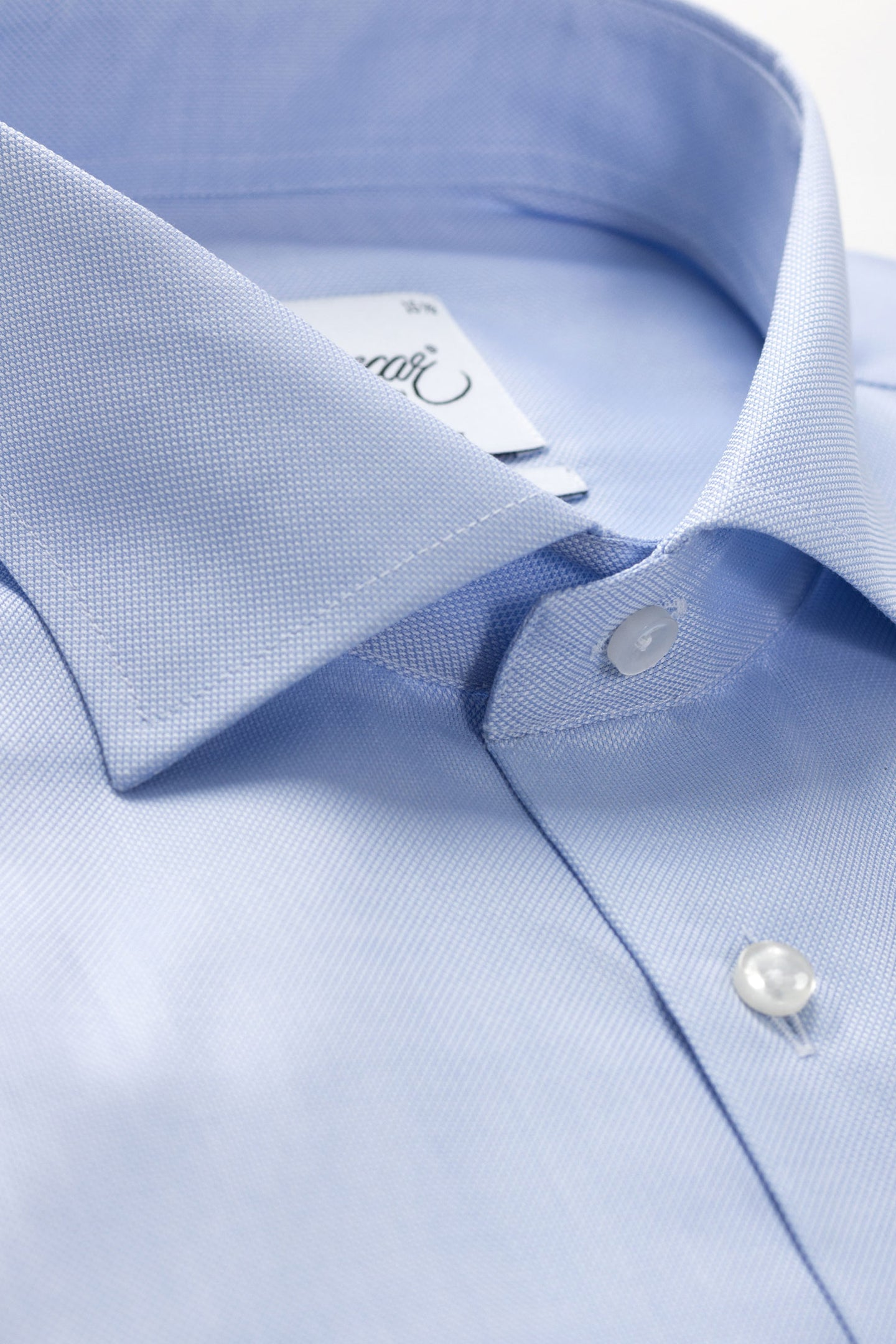 Light blue royal oxford slim fit shirt