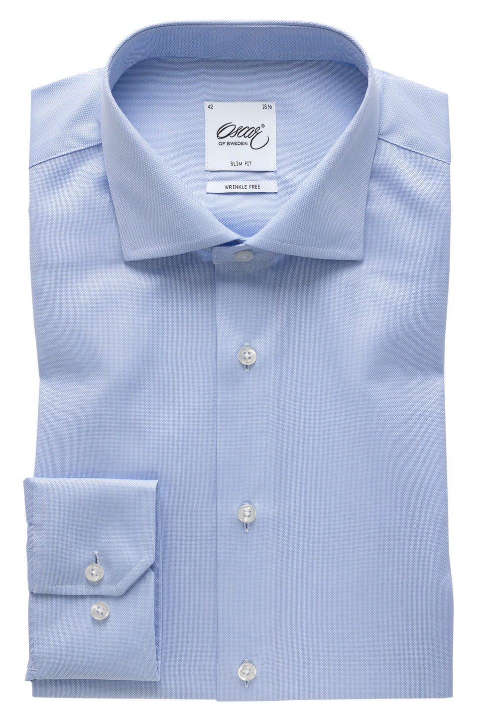 Lightblue royal oxford slim fit shirt