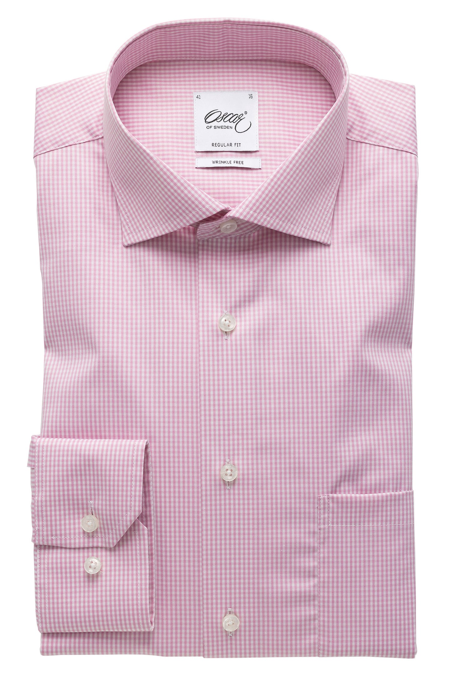 Pink checked regular fit shirt