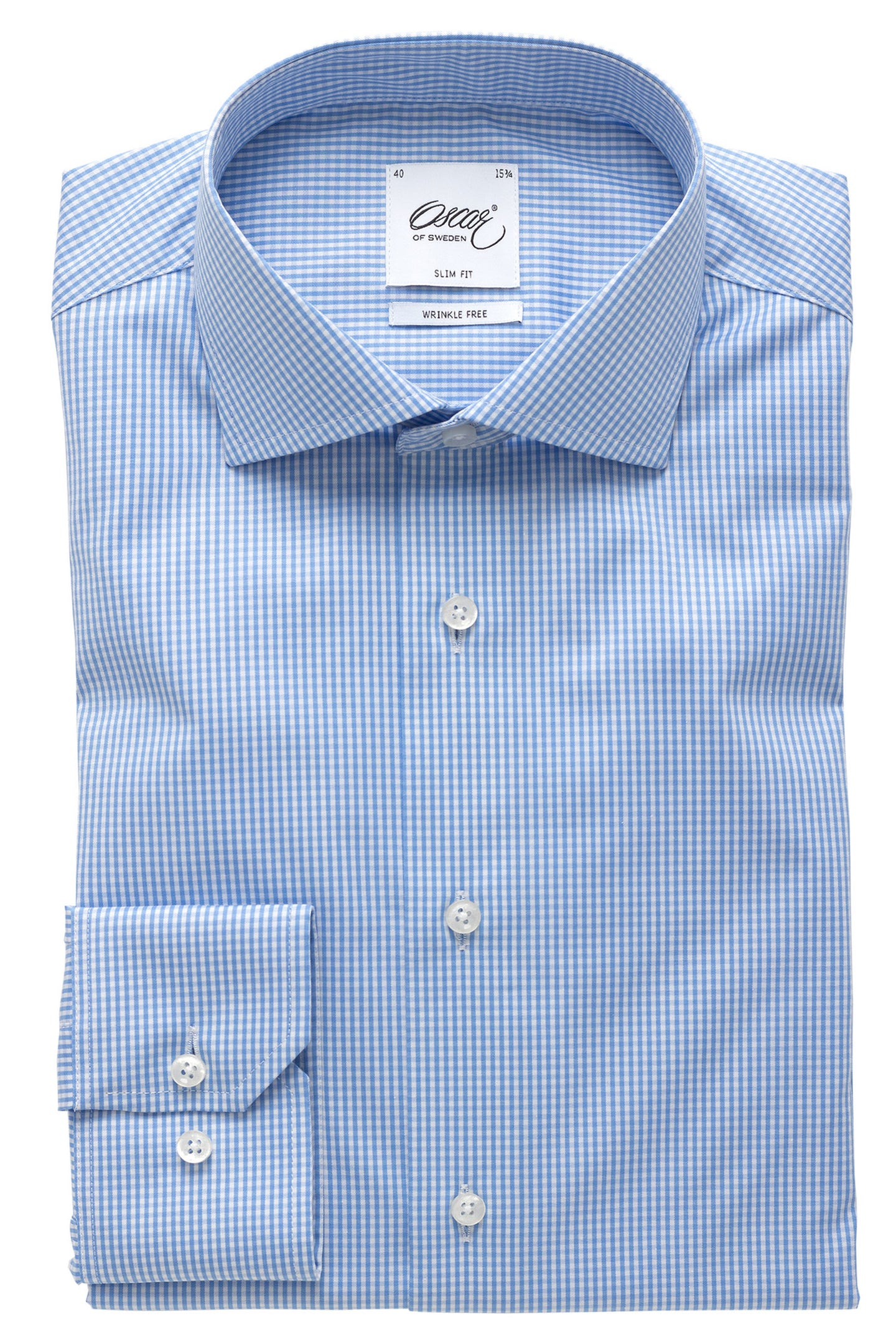 Blue checked slim fit shirt