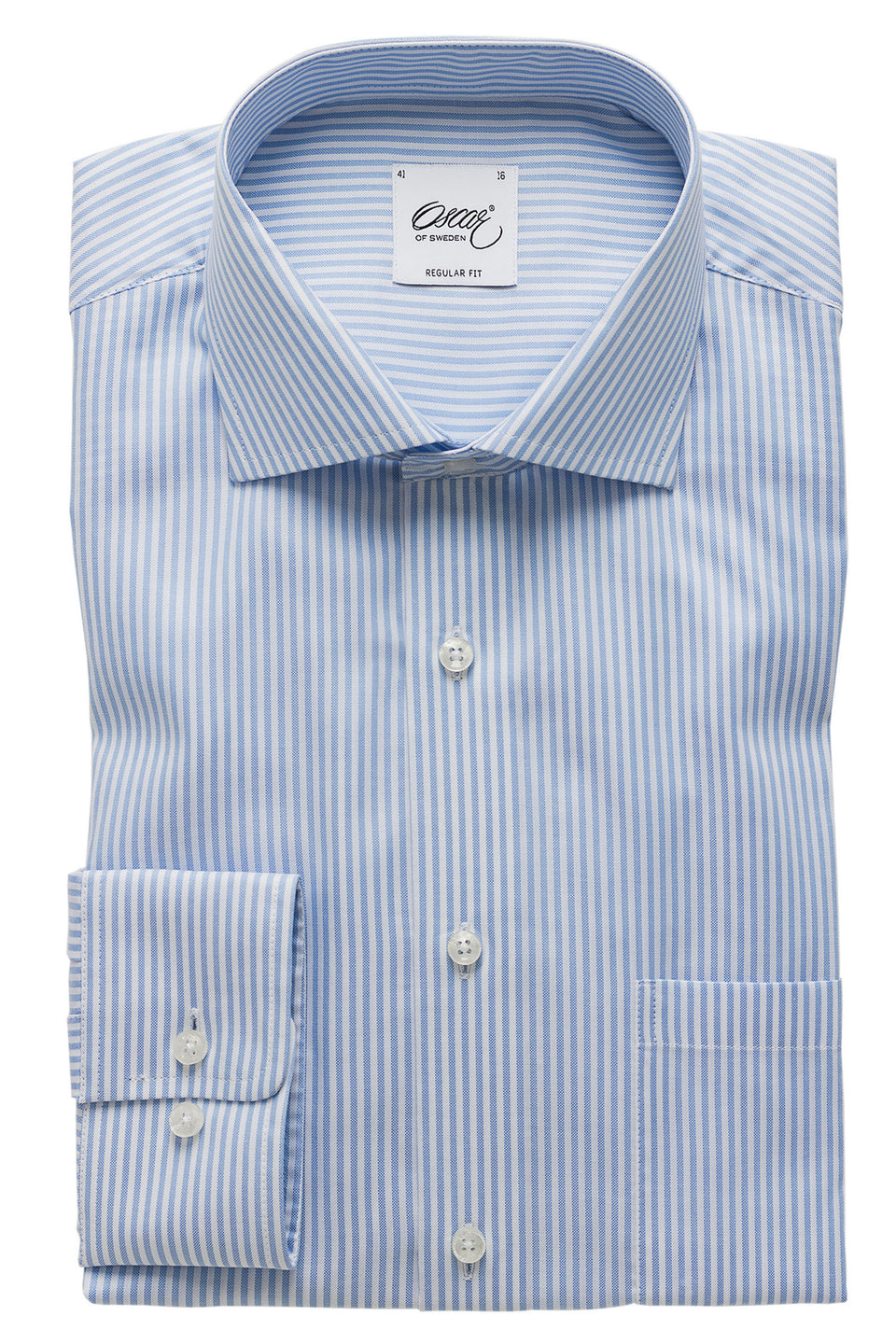 Blue striped regular fit shirt
