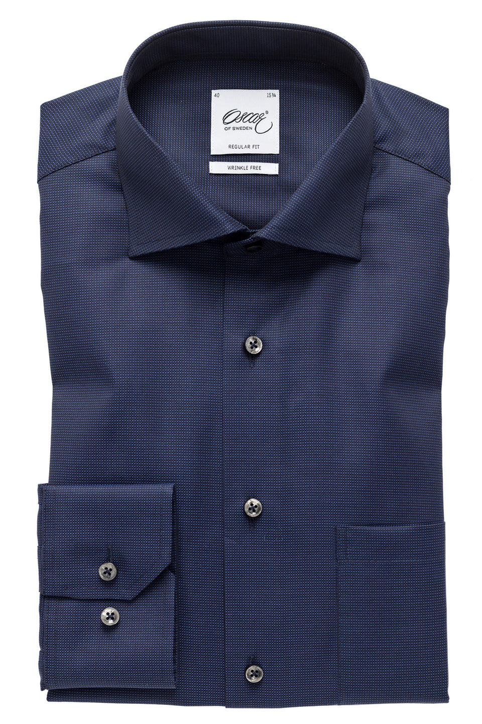 Dark blue regular fit shirt