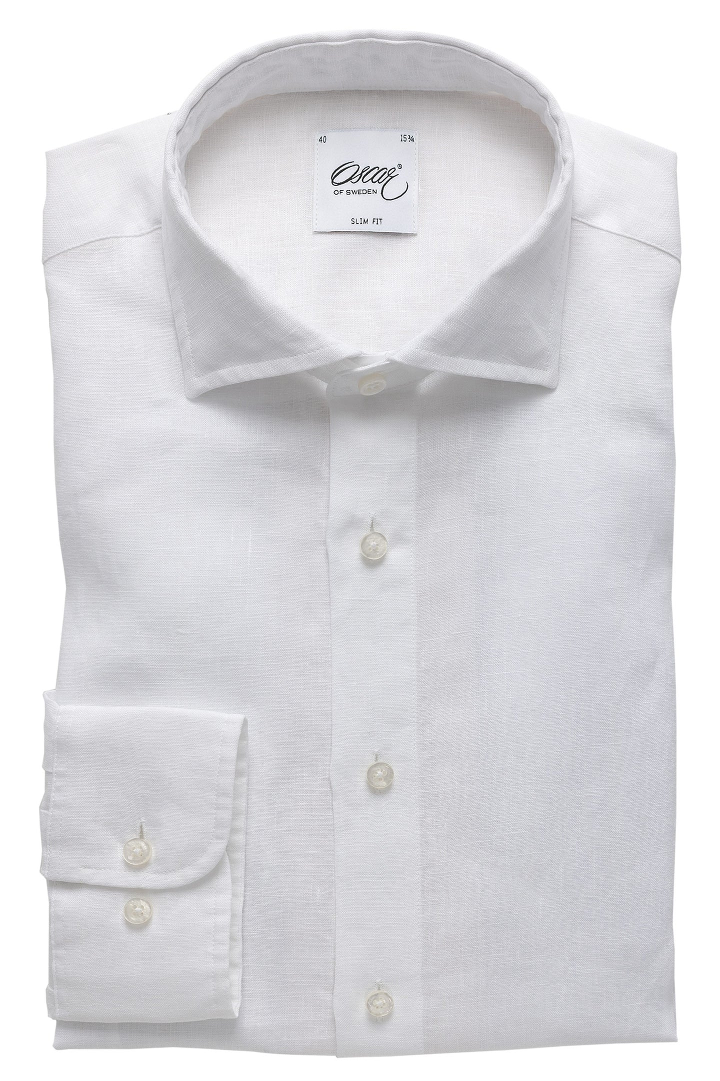 White washed linen slim fit shirt