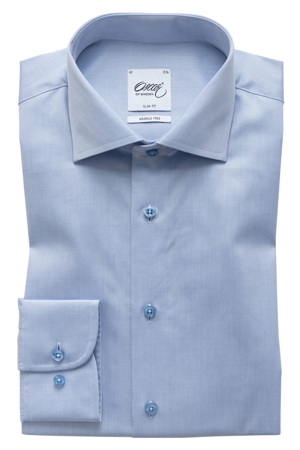 Lightblue slim fit shirt