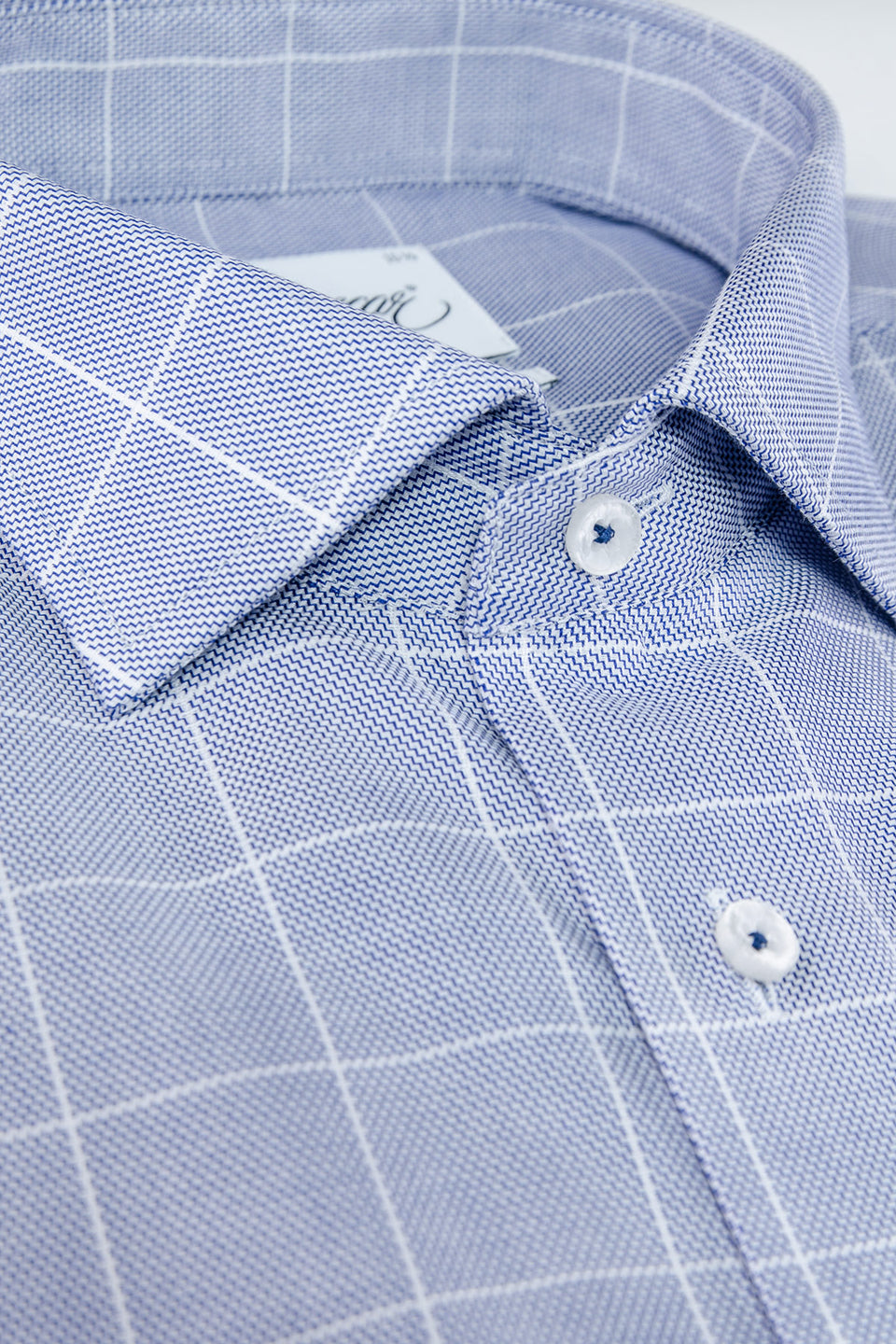 Blue checked regular fit shirt