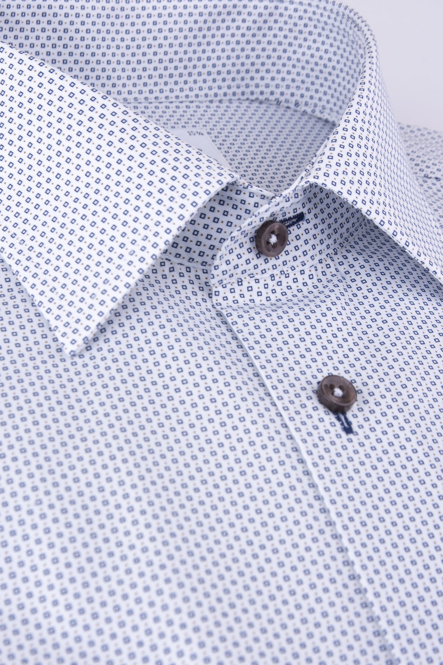 White printed regular fit shirt