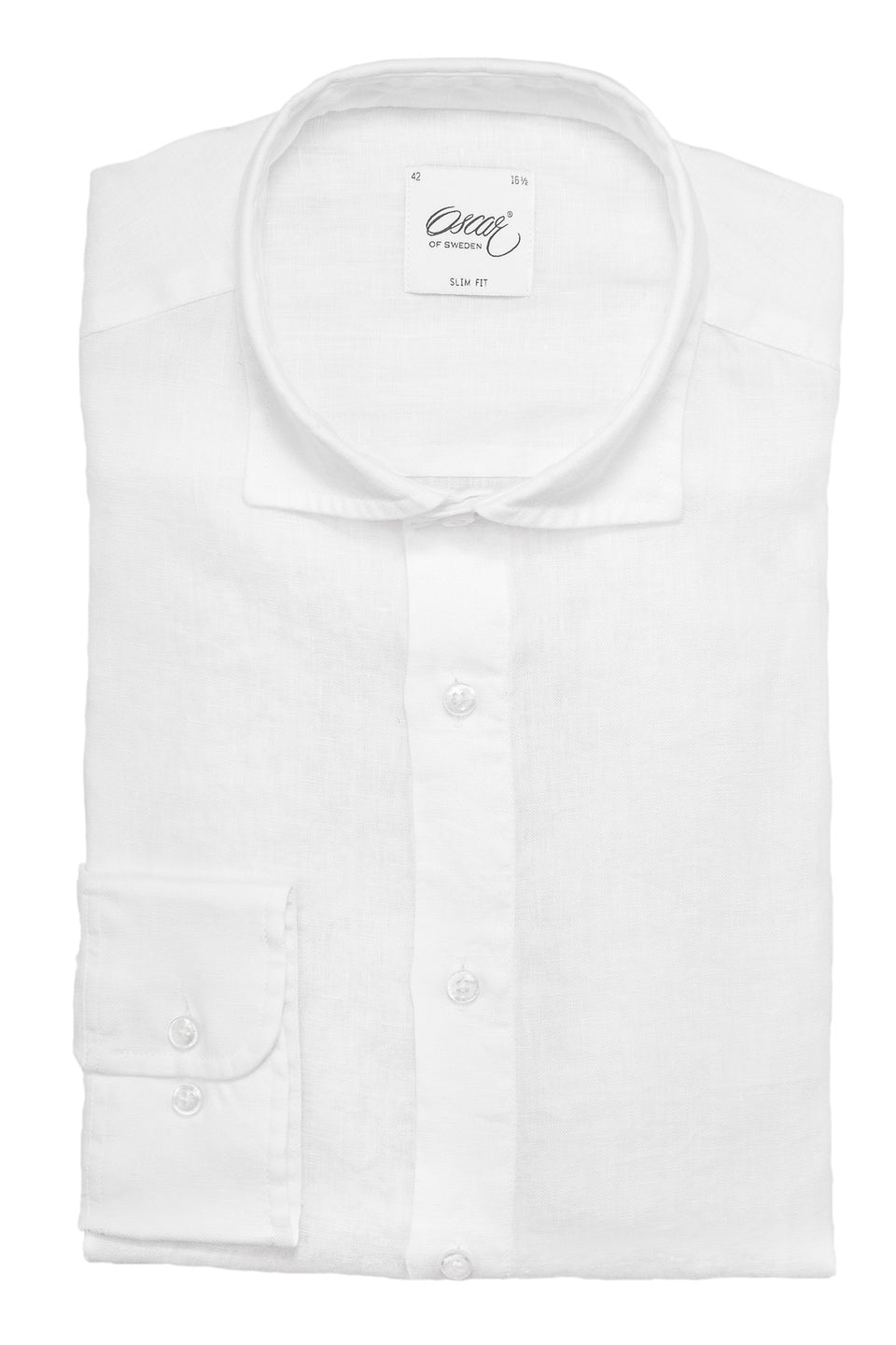 White slim fit linen shirt