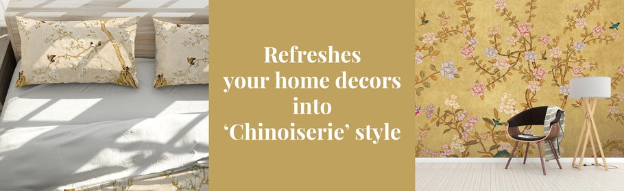 Open a door that refreshes your home decors into 'Chinoiserie' style