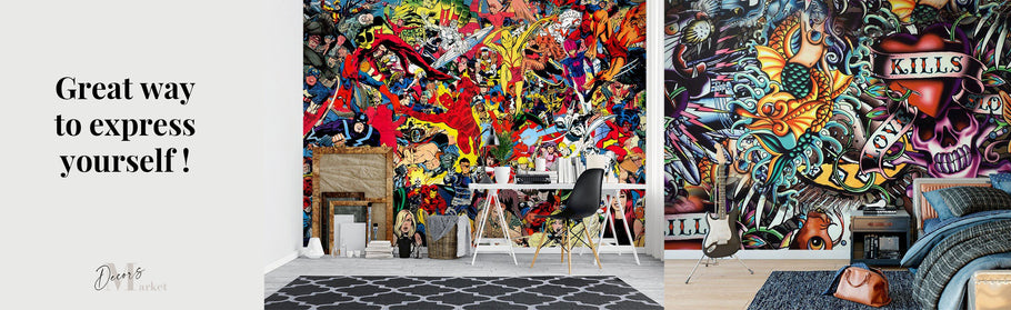 Modern home decor truly comes blooming with graffiti, which is a great way to express yourself!