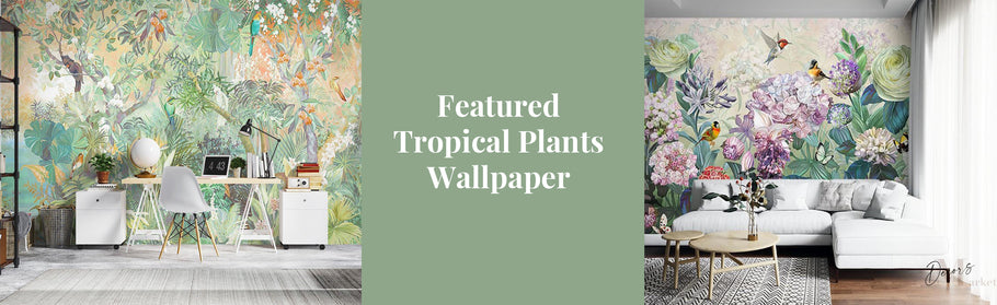 Present To Your Attention Our New Magnificent Oil Painting Tropical Plants Wallpaper