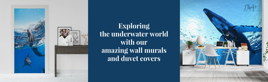 Exploring the underwater world with our amazing wall murals and duvet covers