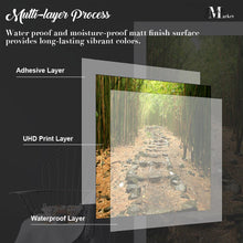 Load image into Gallery viewer, Rock Forest Nature Waterfall Door Wrap, Customized Mural For Door, Door Mural Sticker, Peel And Stick Door Cover, Removable Door Decal