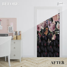 Load image into Gallery viewer, Peacock Peony Animals Peacock Door Wrap, Customized Mural For Door, Door Mural Sticker, Peel And Stick Door Cover, Removable Door Decal