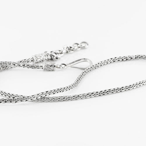Artisan Crafted Sterling Silver Spiga Chain, adjustable from 18