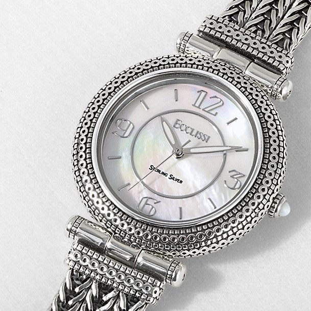 Ecclissi Sterling Silver Mother of Pearl Dial watch