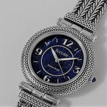 Load image into Gallery viewer, Ecclissi, Sterling Silver Watch with Sodalite Dial, Italian Fox Tail Bracelet