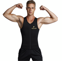 Load image into Gallery viewer, Slim Waist Black 3 Rows Hooks Neoprene Mens Big Size Slimming Vest Waist Slimmer