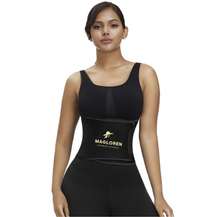 Load image into Gallery viewer, Black Neoprene Waist trainer