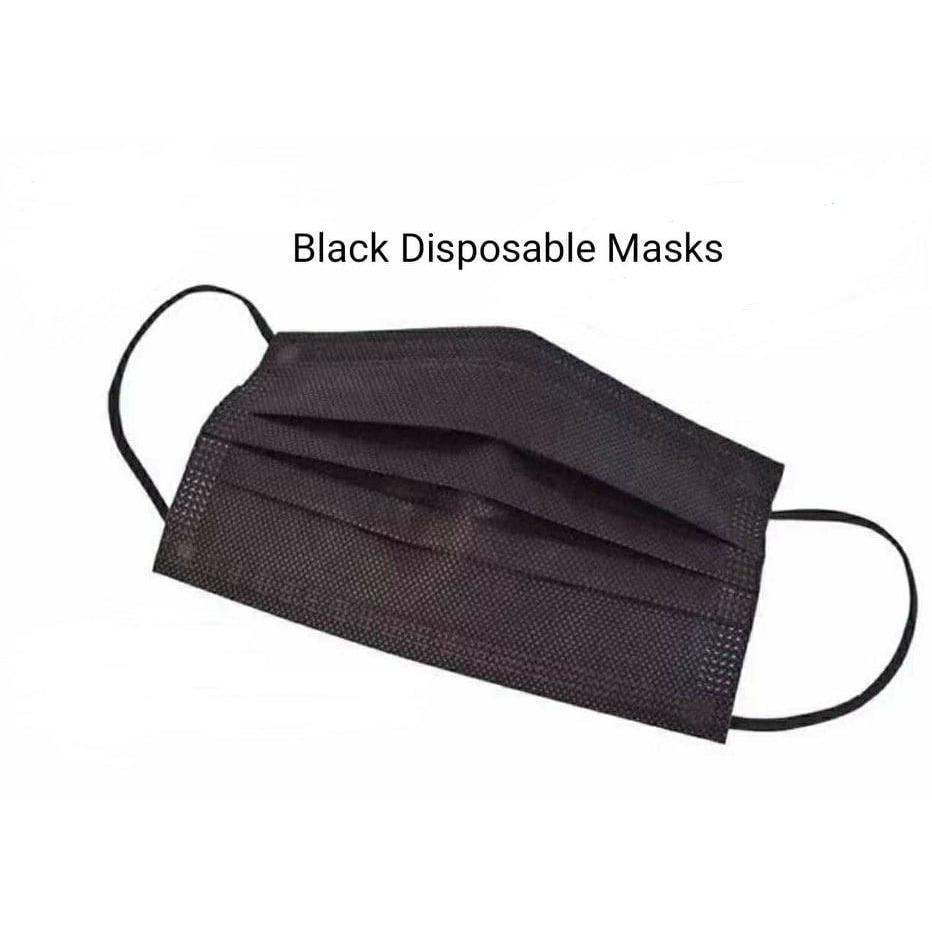 Black Disposable Masks - Fresh Face Beauty Co