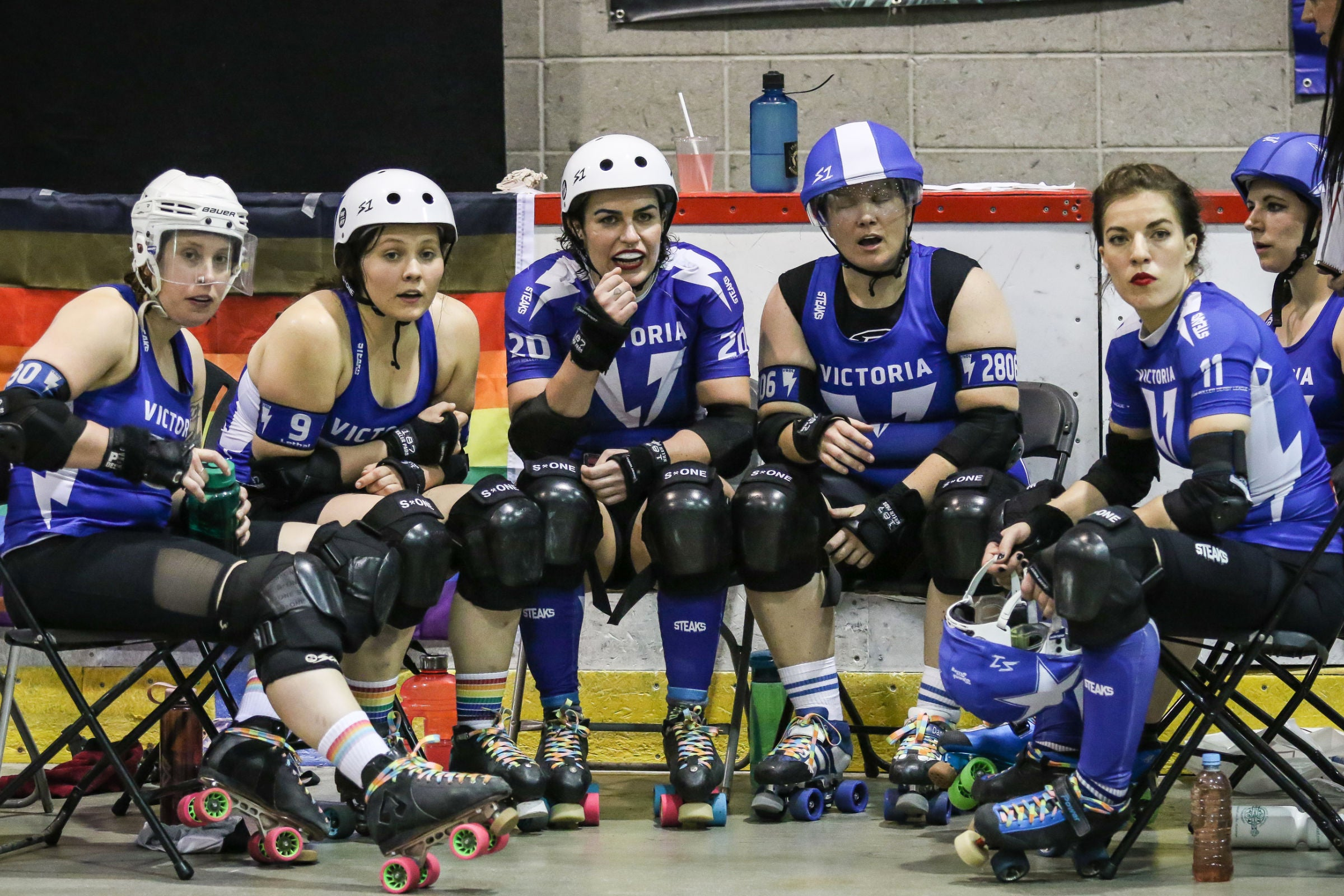 Athletes from Victorian Roller Derby in STEAKS® Contact and Team Wear.