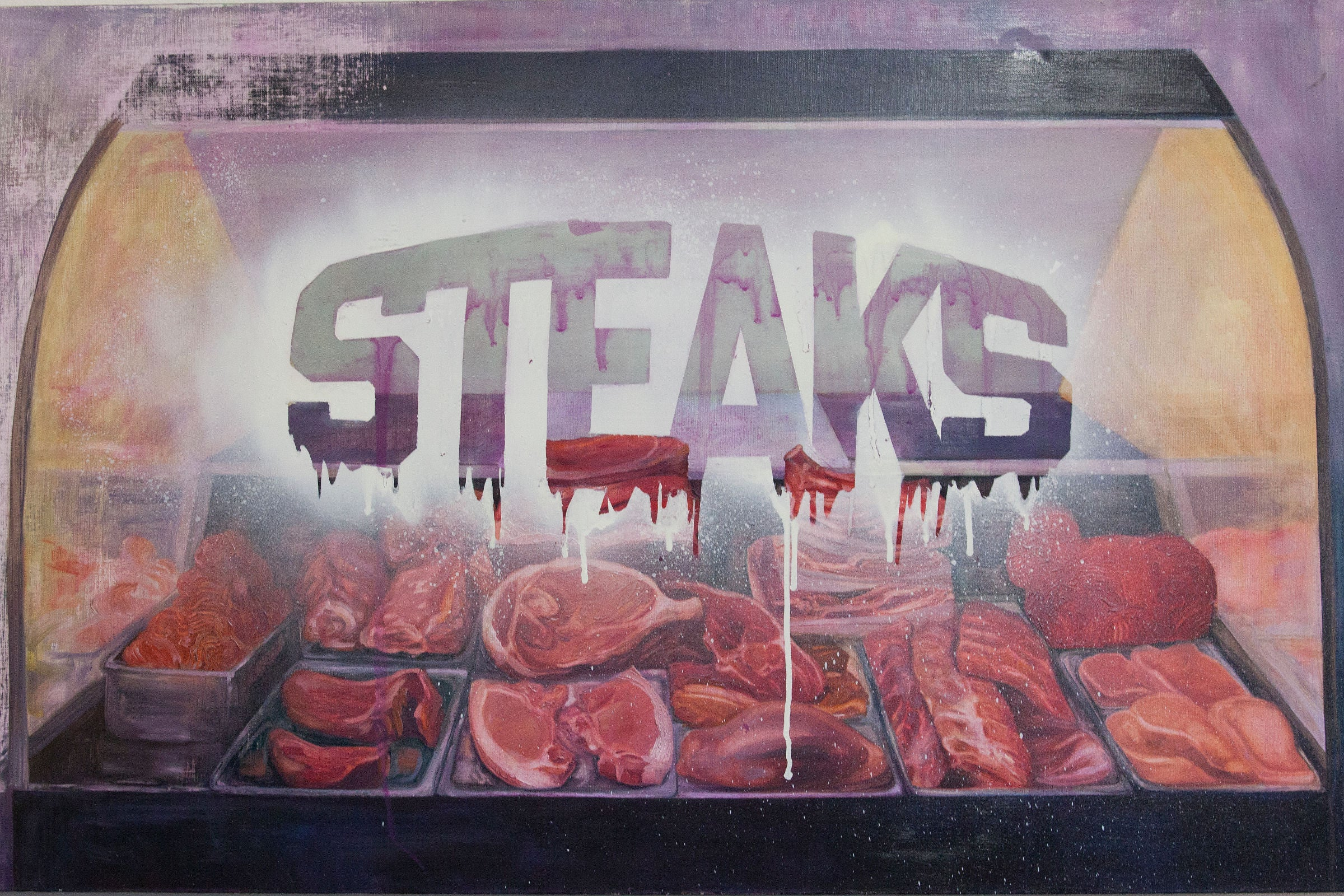 A painting from the early years of STEAKS®.