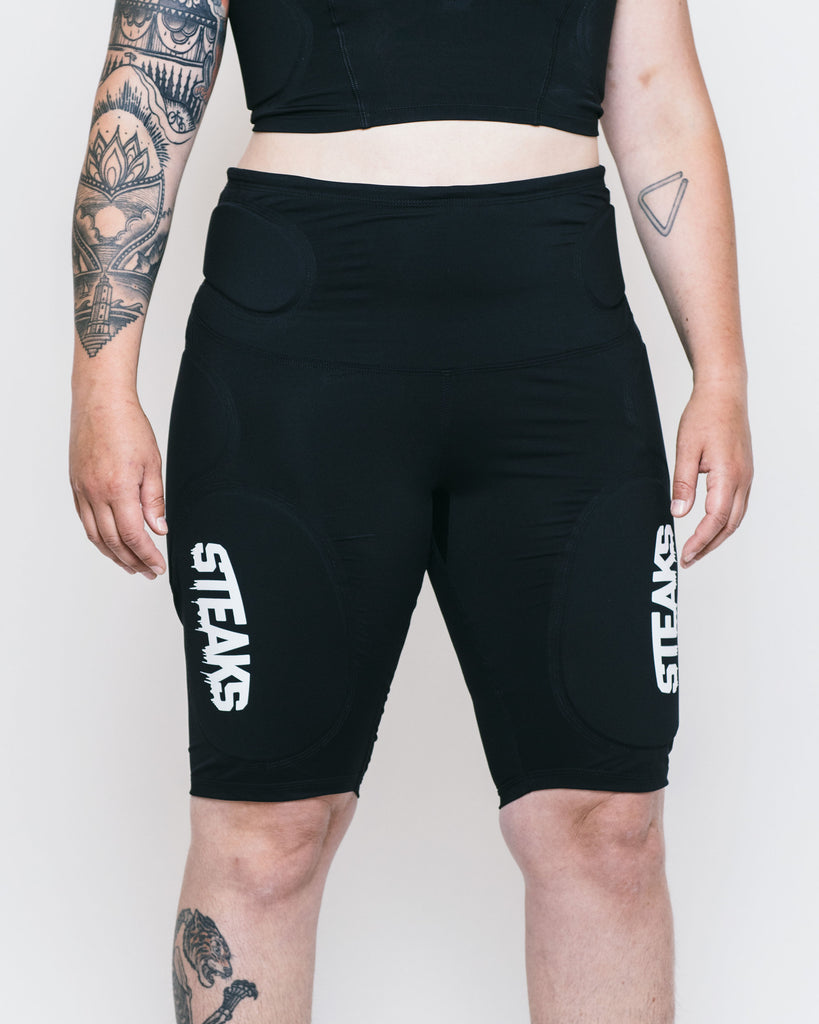 STEAKS® Contact Wear Crash Pants Collection: Full Crash Shorts with coccyx, hip bones, bum/ side hip and thigh protection