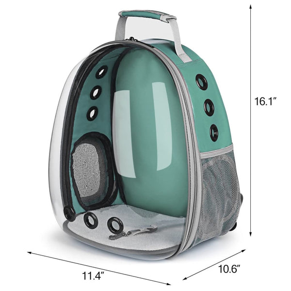 green clear bubble cat backpack size chart