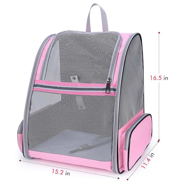 pink mesh cat backpack size chart