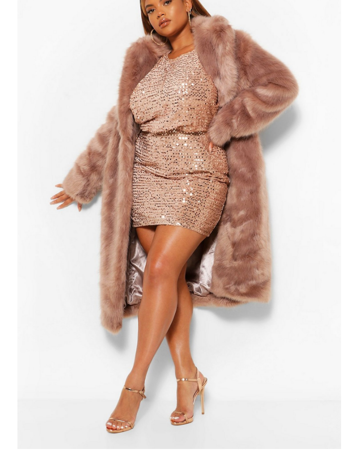 Sequins long sleeve party dress