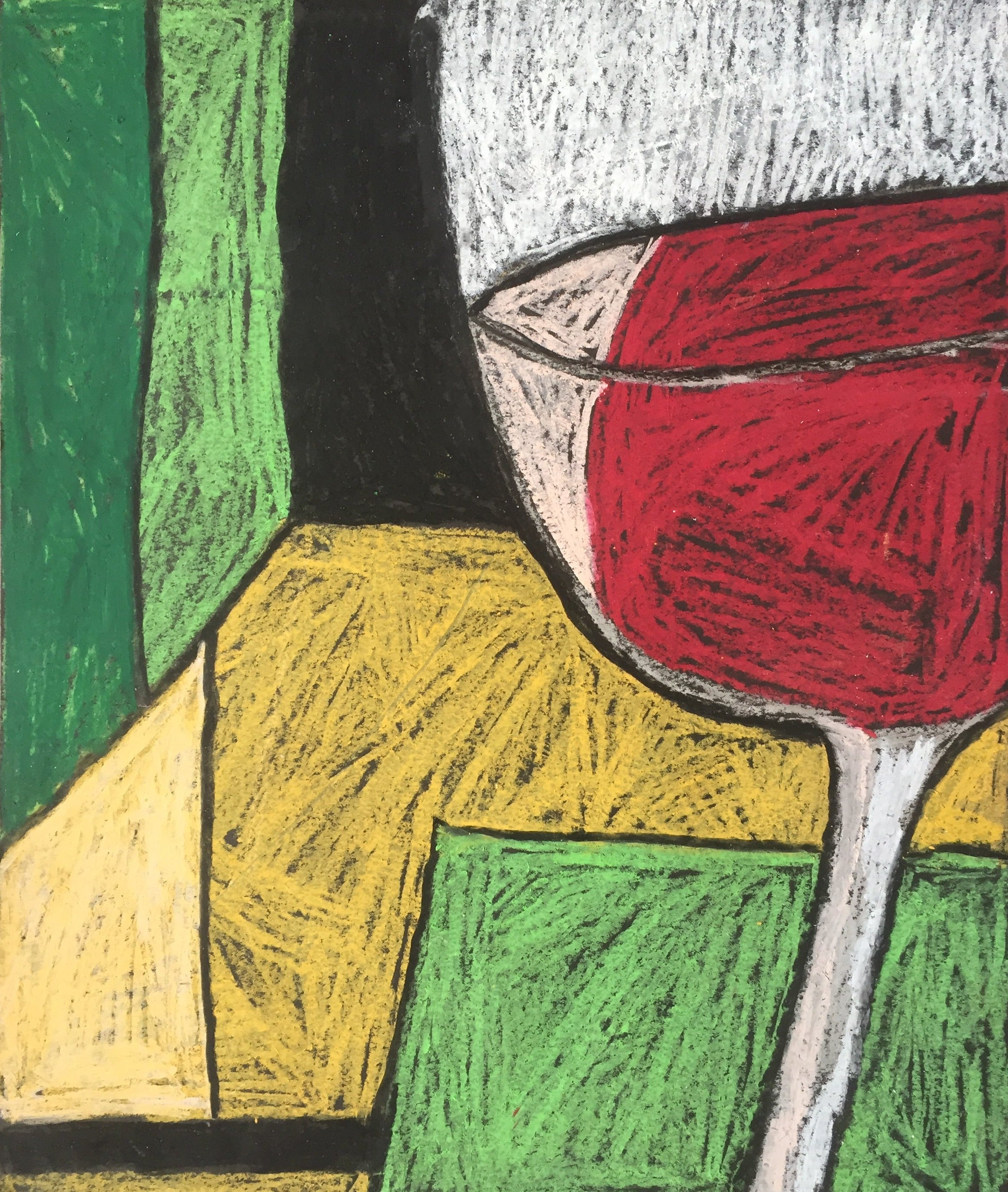 Cubist Wine Glass