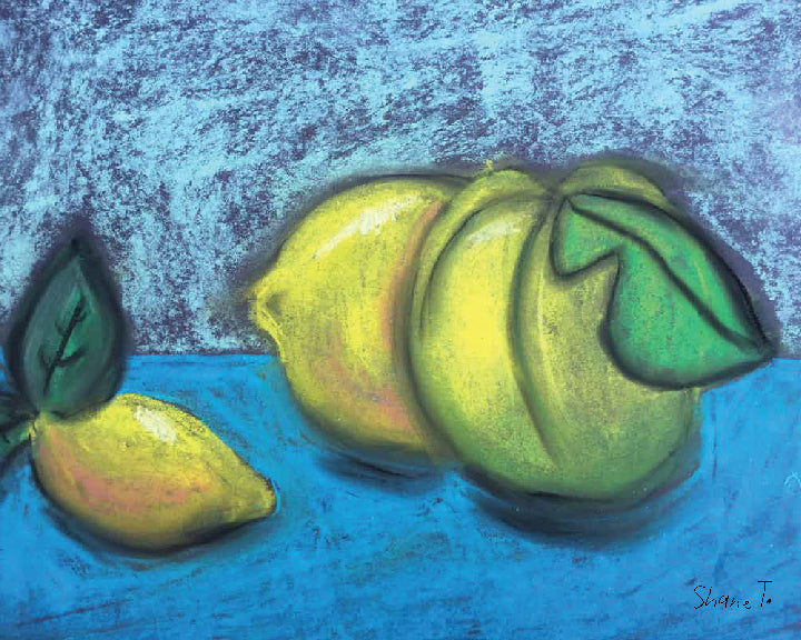 Still Life Quince and Lemon