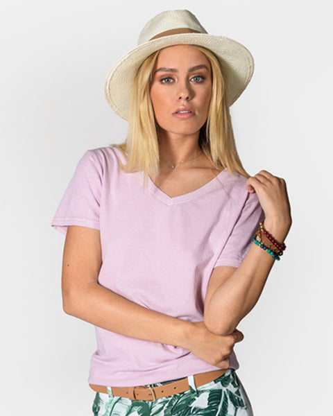 Women's Short Sleeve V-Neck Tee