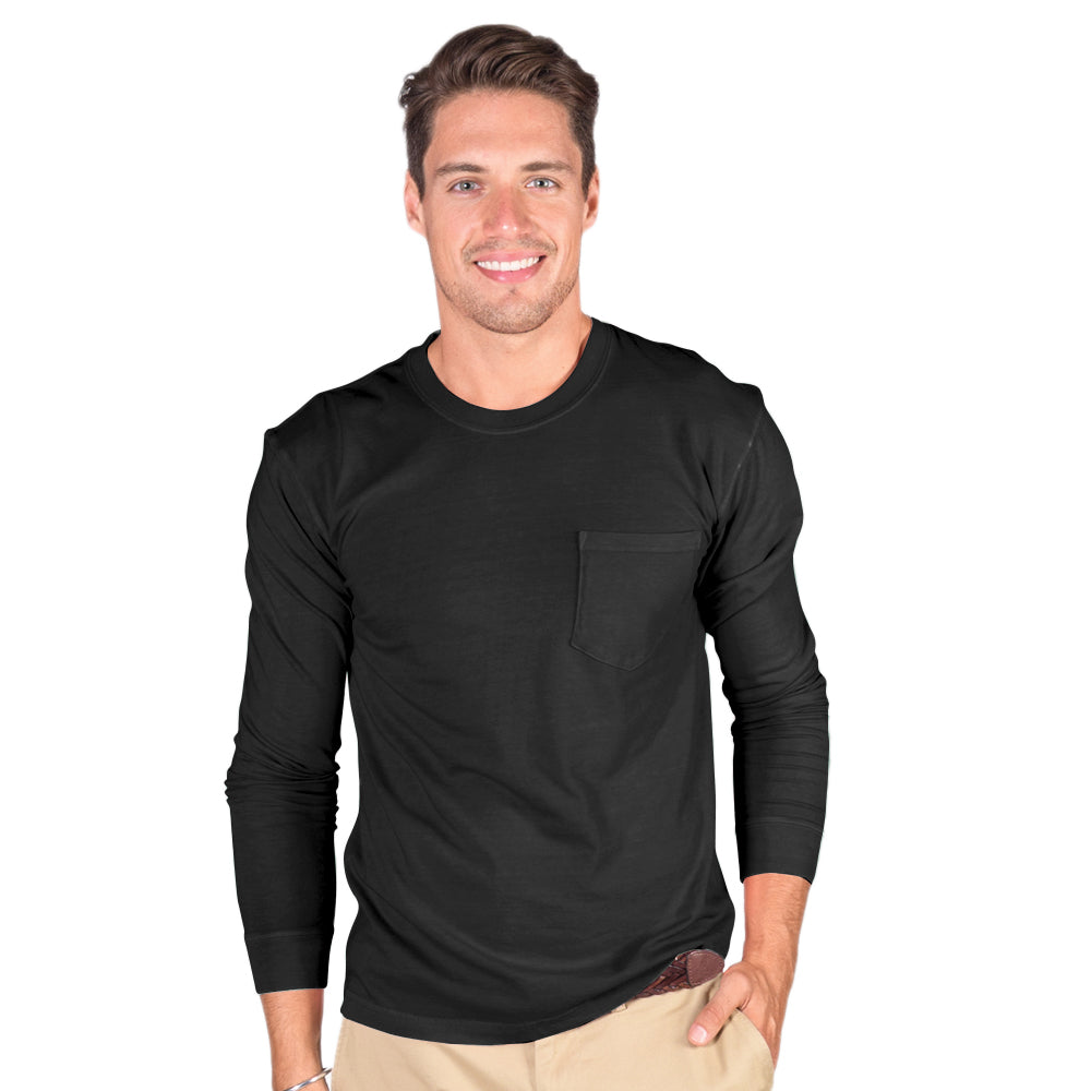 Men's Heavyweight Long Sleeve Crew With Pocket