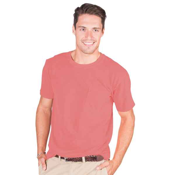 Men's Short Sleeve Midweight Crew Tee with Pocket