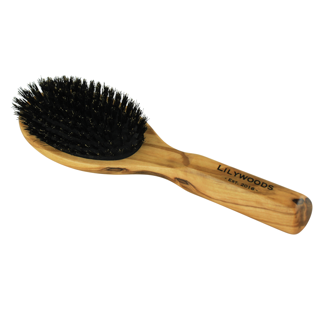 Olive Wood & Boar Bristle Hairbrush