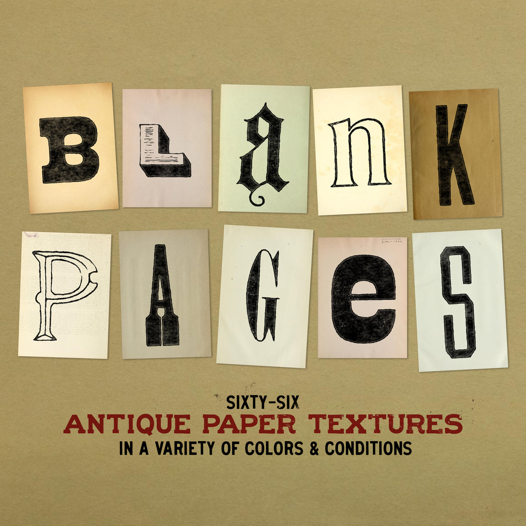 Blank Pages - Antique Paper Textures