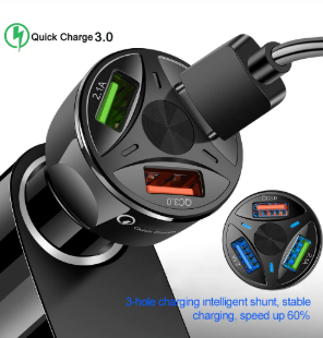 Auto-Quick Car Charger 3 Port LED