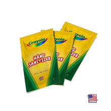 Load image into Gallery viewer, Crayola .06 fl. oz. 100 Hand Sanitizing Single-use Gel Packets