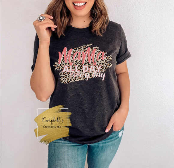 Leopard Mama All Day Everyday Graphic Tee