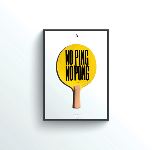 Antony Burrill for Art of Ping Pong for Good - Art of Ping Pong