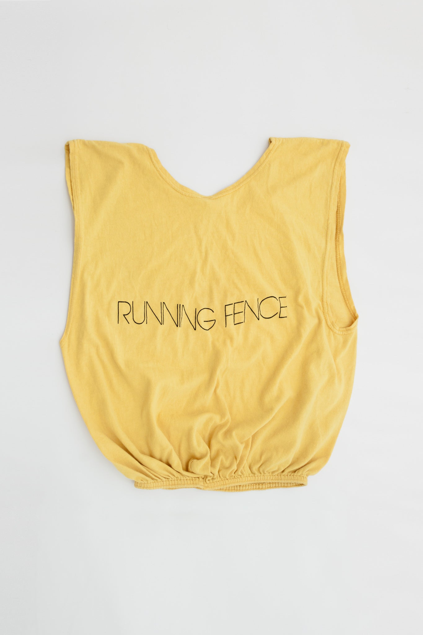 [Bootleg t-shirt from Running fenceproject].California, 1976. - Christo