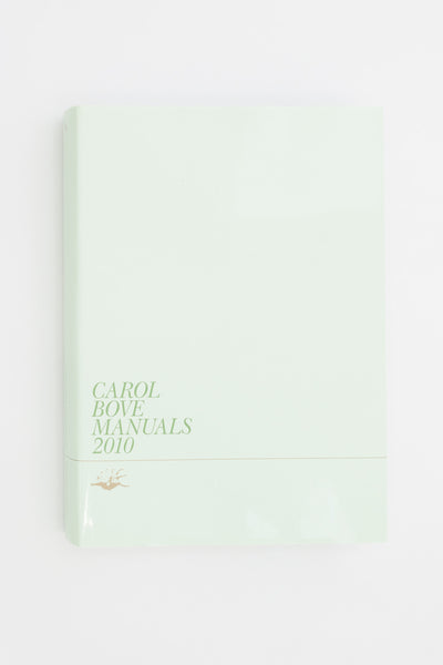Manuals 2010 - Carol Bove @ Tenderbooks