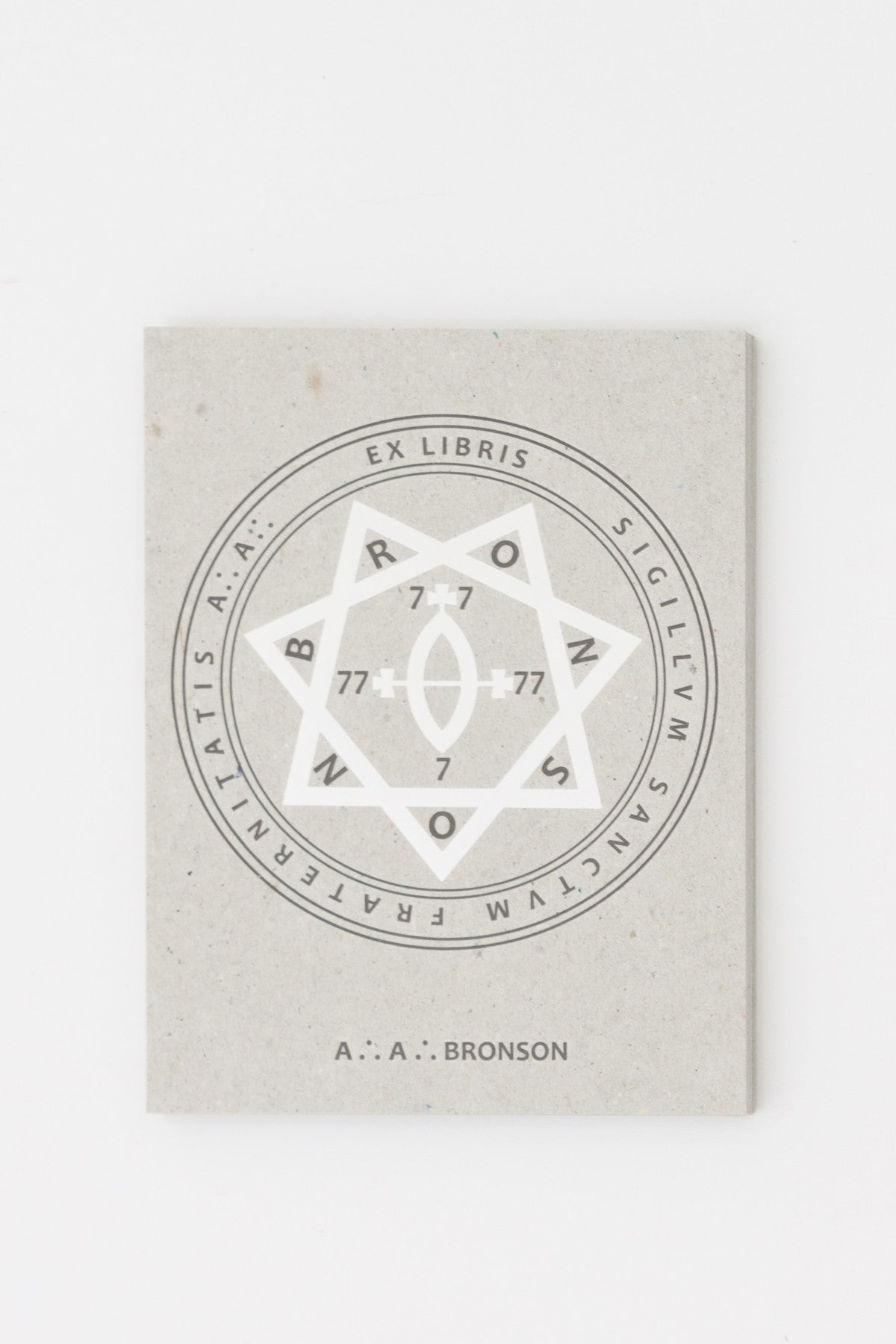 'Ex Libris' Bookplate - AA Bronson @ Tenderbooks