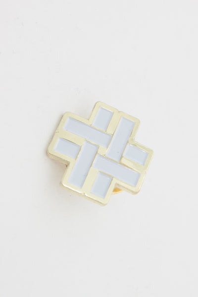 WOVEN HASHTAG PIN - Tauba Auerbach/ Diagonal Press