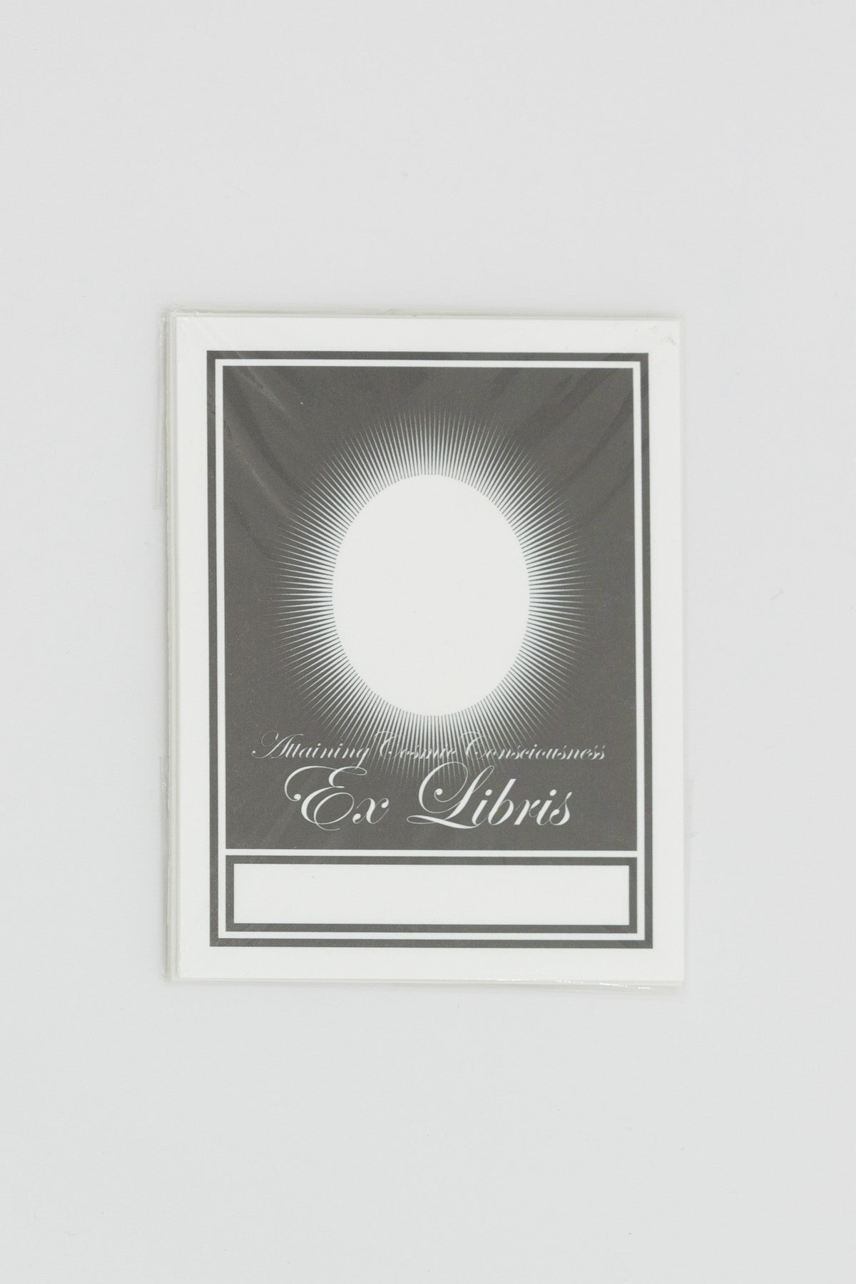 'Attaining Cosmic Consciousness' Letterpress Bookplate by Ian Whittlesea
