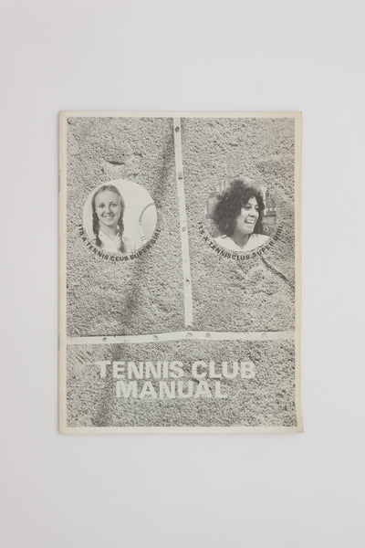 Tennis Club Manual - Stephen Willats
