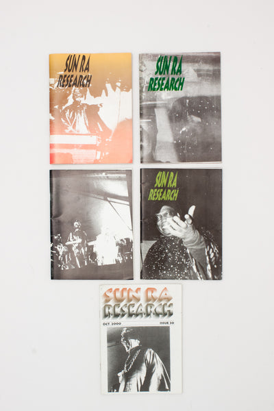 Five issues of Sun Ra Research - Peter Hinds ed.