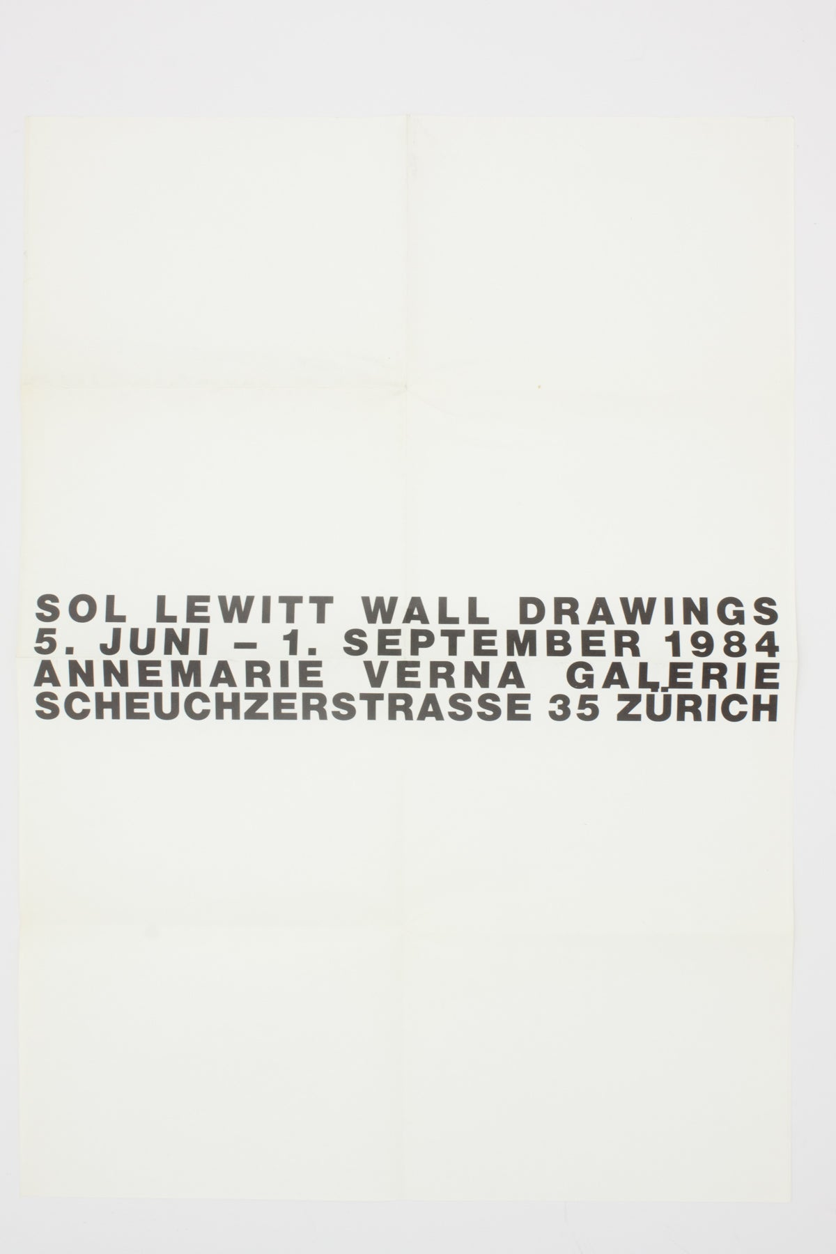 SOL LEWITT WALL DRAWINGS. ORIGINAL POSTER.